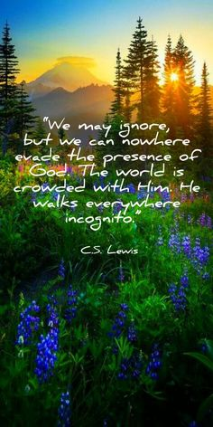 """""""we may ignore, but we can nowhere evade the presence of god. the world is crowded with him. he walks everywhere incognito."""" ― c.s. lewis"""