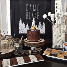 Items similar to Chalkboard Camp Sign - Digital File on Etsy - Lindsy Marie - Birthday Party Boy First Birthday, First Birthday Parties, Birthday Party Themes, First Birthdays, First Birthday Camping Theme, Birthday Ideas, Birthday Themes For Boys, Camping Diy, Camping Parties