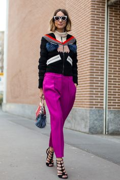 Striking #StreetStyle at #MFW.