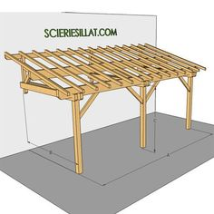 Carport Sheds, Diy Carport, Carport Plans, Pergola Plans, Patio Canopy, Canopy Outdoor, Pergola Patio, Backyard Patio, Back Garden Design