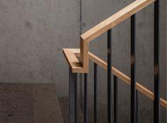 Michael Meier and Marius Hug Architekten AG – Kast … Metal Stair Railing, Wood Handrail, Staircase Handrail, Banisters, Rustic Stairs, Modern Stairs, Railing Design, Staircase Design, Railing Ideas