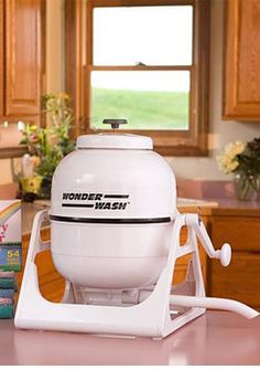 WonderWash: A Small Washing Machine That's Completely Portable. Clean clothes wherever you are on the road. Love it