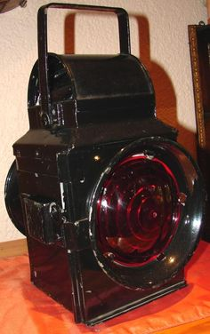 Big vintage SARS Red/White light Lantern