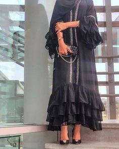 S,L, Fashions Women S Blouson Halter Crochet Dress Niqab Fashion, Muslim Fashion, Modest Fashion, Fashion Dresses, Mode Abaya, Mode Hijab, Mode Kimono, Iranian Women Fashion, Abaya Designs