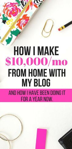 The way that I make $10000 each month blogging. #makingmoney #workathome #jobs