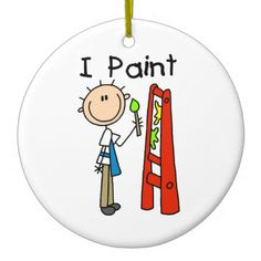 I Paint Christmas Tree Ornaments Christmas Tree Painting, Christmas Tree Ornaments, Mambi Stickers, Stick Figure Drawing, Mermaid Crafts, One Stroke Painting, Painted Ornaments, Rock Design, Stick Figures