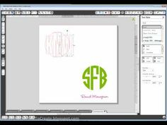 Creating your own circle monogram tutorial for Silhouette