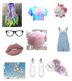 """State Fair 2"" by forever-natural ❤ liked on Polyvore featuring Cotton Candy, Muse and Lime Crime"