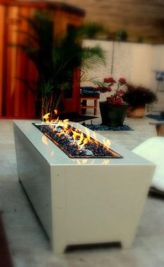 Custom Made Diego Fire Feature by Cooke Furniture on CustomMade.com