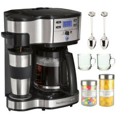 Buy Hamilton Beach Two Way Brewer Single Serve and Coffee Maker, Stainless Steel securely online today at a great price. Hamilton Beach Two Way Brewer Singl. Dual Coffee Maker, Best Drip Coffee Maker, Coffee Maker Reviews, Espresso Machine, Coffee Maker Machine, Coffee Machines, Espresso Maker, Tupperware, Single Serve Coffee