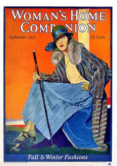 Lady In Blue ~ Woman's Home Companion