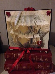 Buch Falzen Muster, denn ich liebe dich ~ Herzen ~ + Kostenloses TUTORIAL
