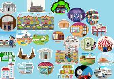Vocabulaire de la ville. Activités interactives