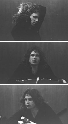 Jim Morrison during a record session