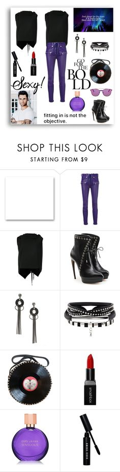 """Moves Like Jagger"" by rboowybe ❤ liked on Polyvore featuring St. John, Unravel, Roland Mouret, Alexander McQueen, Jeweliq, Smashbox, Estée Lauder, Bobbi Brown Cosmetics and Web Sunglasses"