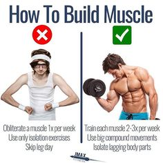 HOW TO BUILD MUSCLE by @jmaxfitness - Thanks to the science we now know that you can build muscle by following the following rules: - 1. Train each muscle 2x or 3x per week. - 2. Rest 2-3 min between sets (3 min for compound and 2 min for isolation). - 3. Isolate lagging body parts. - 4. Train to failure occasionally.  Not on every set.  Maybe go to true absolute failure ever 10 days or so. - 5. Train the most important exercises first in the workout.  For instance if your chest is flat…