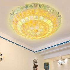 87.12$  Watch now - http://ali5tz.worldwells.pw/go.php?t=32470558092 - modern brief glass shell ceiling lamp 30/40/50cm e27 led smd ceiling light fixture for living room  Luminaria De Teto Led y1014