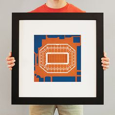 Carrier Dome located at Syracuse University in Syracuse, New York | College football prints from City Prints put you back in the stands on Saturdays. City Prints look like modern art and remind you of the unforgettable moments you experienced in your favorite seats