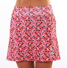 pink pixel athletic skirt