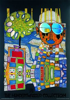 Hundertwasser Not keen on the face part, but LOVE the rest. Could be a really great linoprint to try...