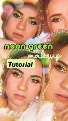 Neon Green, Make Up, Ideas, Makeup Tutorials, Crochet Leg Warmers, Beautiful Eye Makeup, Beauty Routines, Makeup, Beauty Makeup