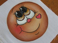 Fun Crafts, Christmas Crafts, Arts And Crafts, Stone Painting, Painting & Drawing, Gingerbread Ornaments, Tole Painting Patterns, Cartoon Eyes, Snowman Faces