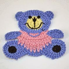 "09 2014 ~ ""Crochet of Mimi"" Plastic Bag Crochet, Crochet Car, Crochet Teddy, Crochet Gifts, Crochet Toys, Crochet Potholders, Crochet Motif, Crochet Designs, Crochet Flowers"
