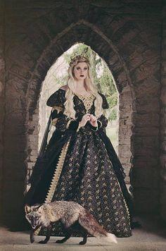 Items similar to Black and Gold Gothic Sleeping Beauty Medieval Fantasy or Wedding Gown Custom Size on Etsy Medieval Gown, Medieval Fantasy, Medieval Gothic, Black Velvet, Gothic Mode, Fantasy Gowns, Chiffon Ruffle, Ruffles, Gothic Fashion