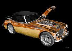 Austin-Healey 3000 Mk II new colored for Art Car