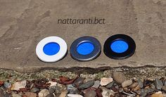 Royal blue neon blue handmade brooches or as a wedding guests badges very simple and subtle colourful by nattaranti on Etsy