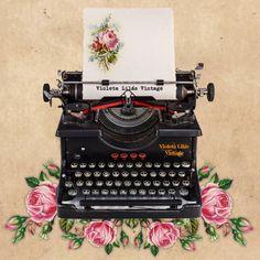 Retro Typewriter, Antique Typewriter, Typewriter Machine, Typewriter Tattoo, Pix Art, Images Vintage, Decoupage Vintage, Vintage Typewriters, Cute Illustration