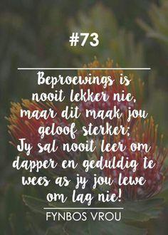 """__[Fynbos Vrou/FB] # 73 """"Beproewings"""" #Heartaches&Hardships"""