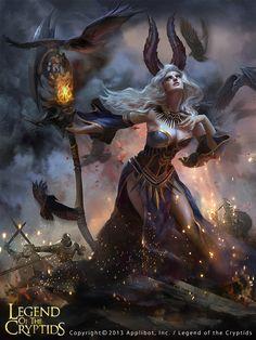 Artist: Unknown name aka Ashram - Title: Witch - Card: Mireia, Downfall Orator (Monologue)