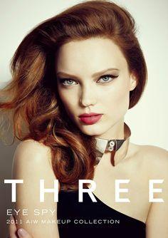 Ad Campaign for Three Cosmetics Fall/Winter 2011 featuring Natalia Chabanenko by Sofia Sanchez & Mauro Mongiello