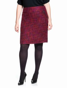 Plus Size $69.90 Tweed skirt. Great color. Would compliment many pieces in your wardrobe. #PlusSize