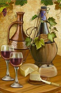 Unfinished Diy Diamond Painting Still life with wines Crystal Diamond Painting Cross Stitch Needlework Home Decorative Decoupage Vintage, Decoupage Paper, Mosaic Pictures, Pictures To Paint, Wine Painting, Wine Decor, Wine Art, Painting Still Life, In Vino Veritas