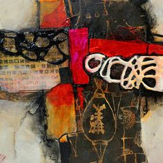 """""""Kimono"""", 6x6 mixed media abstract by Carol Nelson        This is a painting I did as a demo in my recent workshop in Raleigh, NC. As wit..."""
