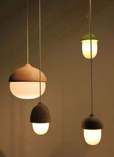 Terho  Tatti Lamps by Maija Puoskari ドングリ?優しいデザイン。