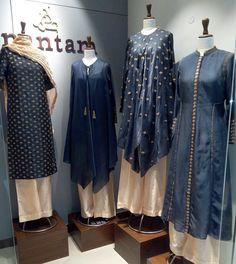 Shop at anantam gurgaon 💞 Pakistani Dress Design, Pakistani Dresses, Indian Dresses, Indian Outfits, Simple Kurti Designs, Kurta Designs, Blouse Designs, Indian Attire, Indian Wear