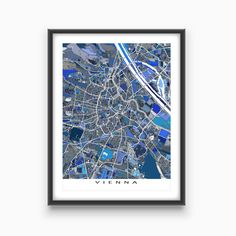 Vienna Map / Vienna Austria / City Map Art Print / by MapsAsArt