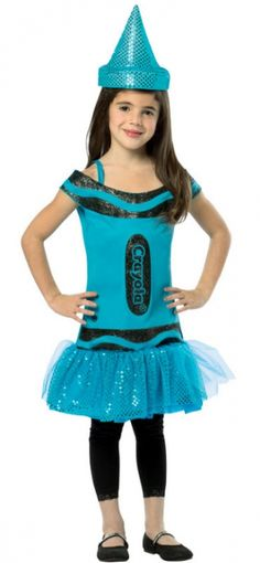 Crayola Glitz Glitter Deep Space Sparkle Dress Child Costume 4-6X