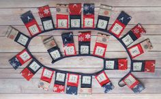 Advent bunting - Advent calendar - Christmas bunting - Crafty Christmas - Handmade Christmas - traditional by byLittleDaisy on Etsy
