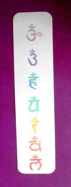 seven chakra symbols clear polymer rubber stamp set by sugarskull7