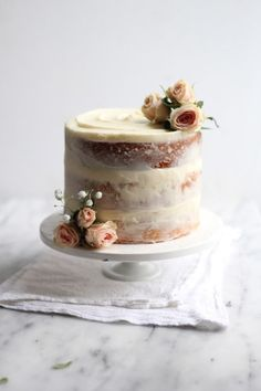 """Sometimes I realize that baking can be like art that I so enjoy creating, (and then eating!) Recently I have discovered the rustic simplicity that is a naked cake and I can't get enough. What is a """"na"""