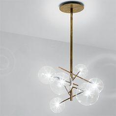 Burnished brass lamp by Gallotti & Radice