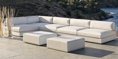 Modular sofa / contemporary / garden / fabric MOOD LOW by Andrès Bluth bivaq