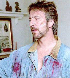 "1989 - Alan Rickman as Ed in ""The January Man."""
