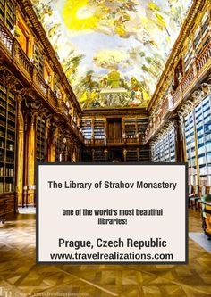 I am going to take you all to one of the world's most beautiful libraries - The Library of Strahov Monastery in Prague, Czech Republic.