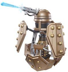 "176). Bronze Dalek patrol ship and bronze/black Dalek patrol pilot Dalek (3.75"" set)."