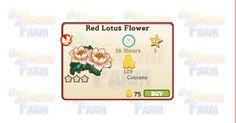 Nuova coltivazione a Ed. Limitata disponibile nel Market fino al 07/02/2016: Red Lotus Flower  Nuova coltivazione a Edizione Limitata disponibile nel Market nel Market dal 09/12/2015 fino al 07/02/2016  Red Lotus Flower  Livello minimo: 5  Matura in: 16 ore  Costa: 75 Coins  Fa guadagnare 1 XP  Rende: 129 Coins  Mastery: 600 / 600 / 600 (tot. 1.800)